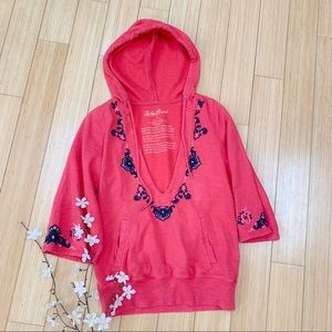 LUCKY Brand embroidered spring hoodie, S.